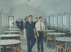 Mr. Ma, visited and inspected the cafeteria